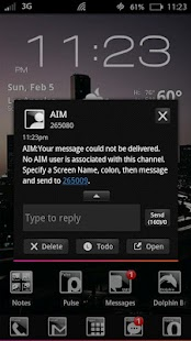 METRO Black GO SMS Theme - screenshot thumbnail