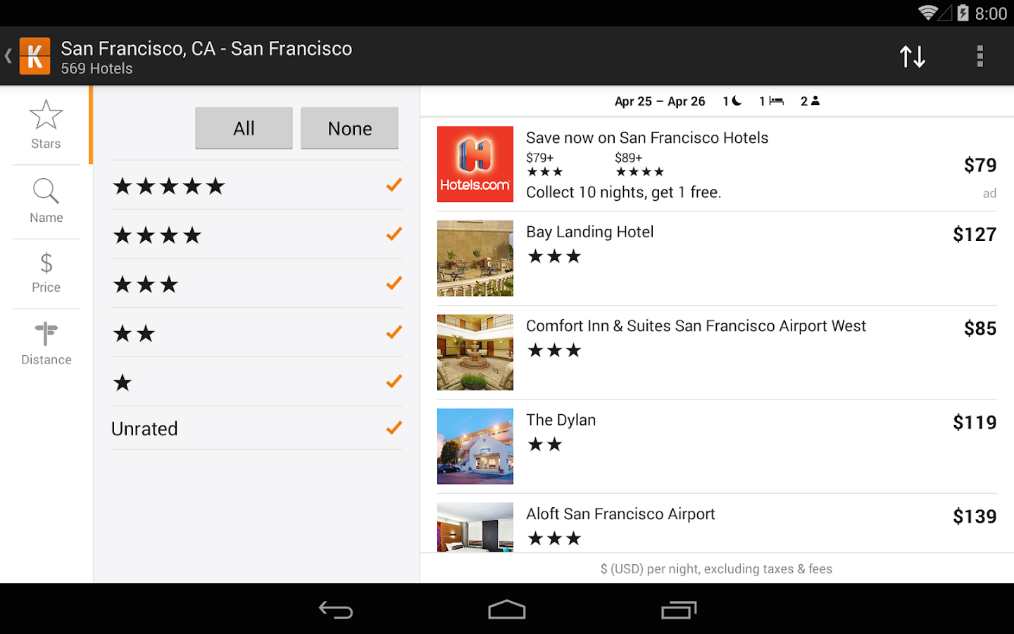 KAYAK Flights, Hotels & Cars - screenshot