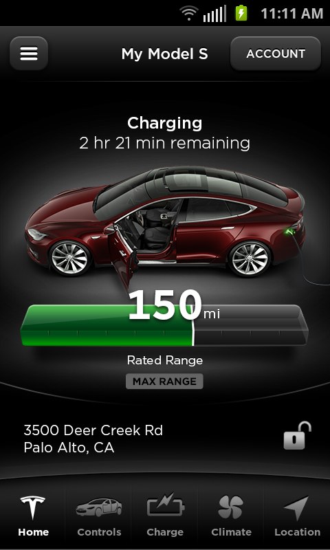 Tesla Model S Beta - screenshot