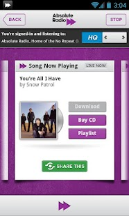 Absolute Radio - screenshot thumbnail