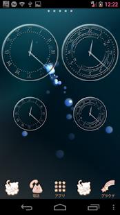 無料个人化Appの透過ガラスアナログ時計ウィジェット|記事Game