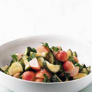 Brined Cucumber and Radish Salad
