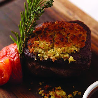 Mustard and Garlic Confit Crusted Fillet.