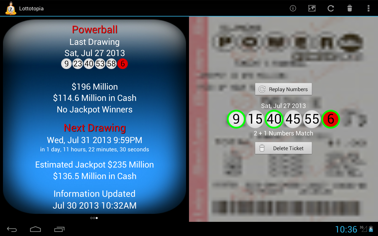 Lottery Results Ticket Checker - screenshot
