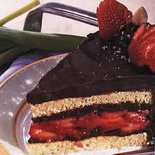 Hazelnut, Chocolate and Strawberry Torte