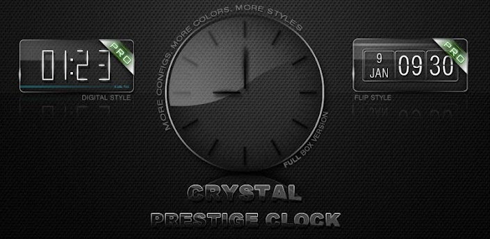 Glass clock. Widget. BOX. PRO apk