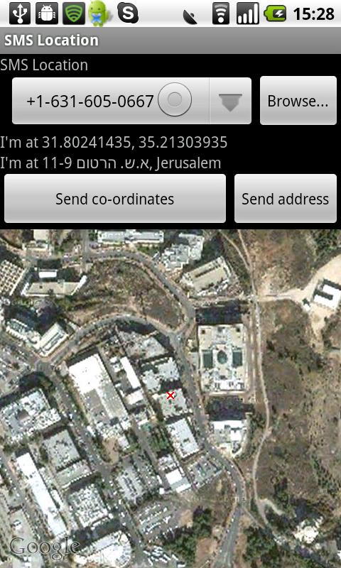 SMS Location- screenshot
