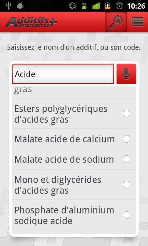 Additifs Alimentaires +- screenshot