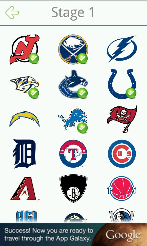 Logo Quiz NFL NHL MLB NBA MLS - screenshot