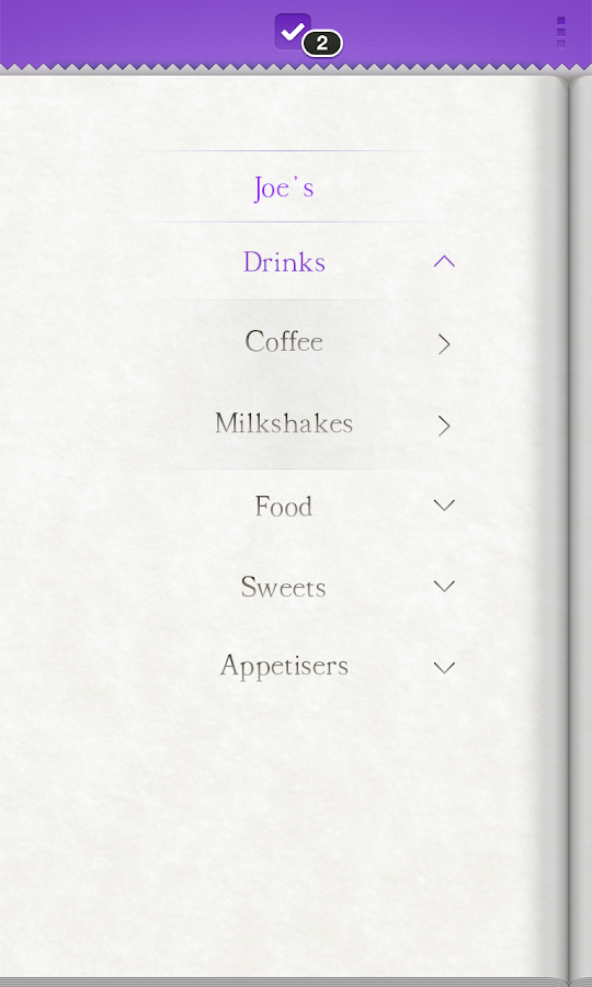 KISS MENU - screenshot