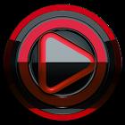 Poweramp skin Preto vermelho icon