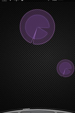 Polarizer Analog Clock: Purple- screenshot