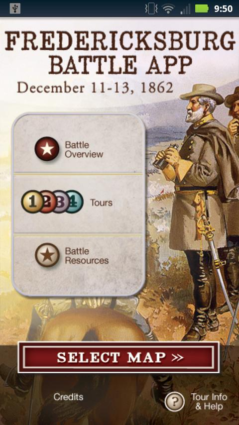 Fredericksburg Battle App- screenshot