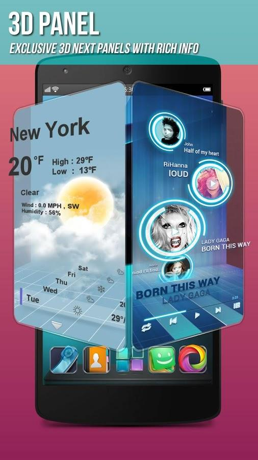 Next Launcher 3D Shell Lite- screenshot