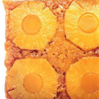 Pineapple-Mango Upside-Down Cake.
