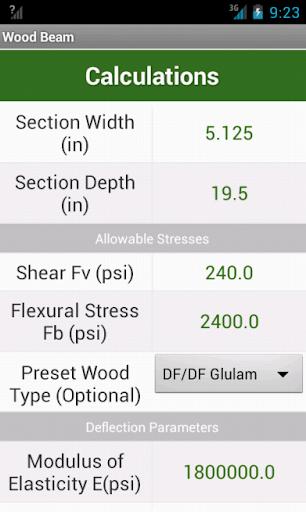 Wood Beam Calculations