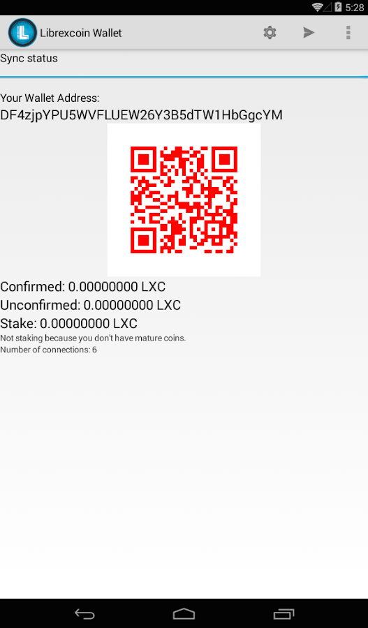 Librexcoin Wallet (Beta)- screenshot