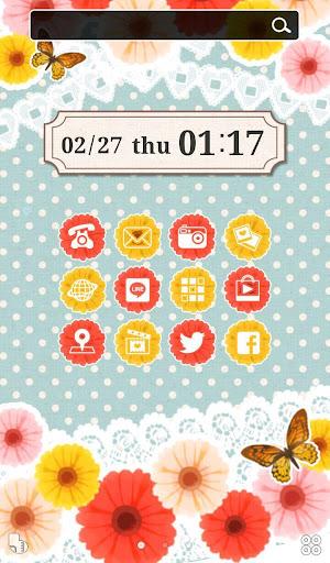 かわいいフラワーバンビ【壁紙 無料きせかえ】buzzHOME