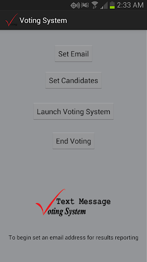 Text Message Voting System