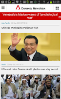 Screenshot of Channel NewsAsia