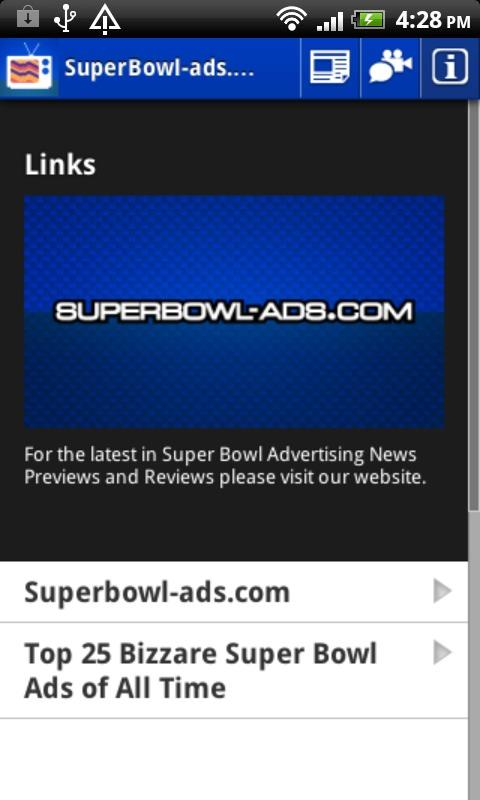SuperBowl-Ads.com App - screenshot