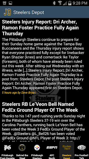 Pittsburgh Steelers News By JD