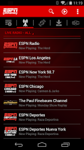 ESPN Radio- screenshot thumbnail