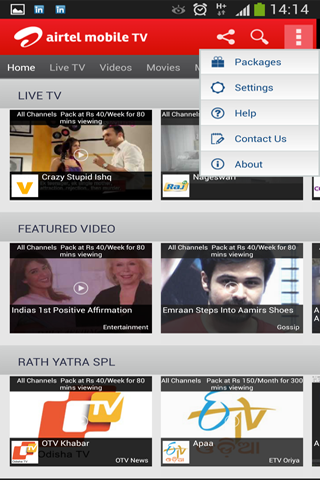 Airtel Live Mobile TV - screenshot