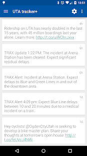 UTA tracker+- screenshot thumbnail