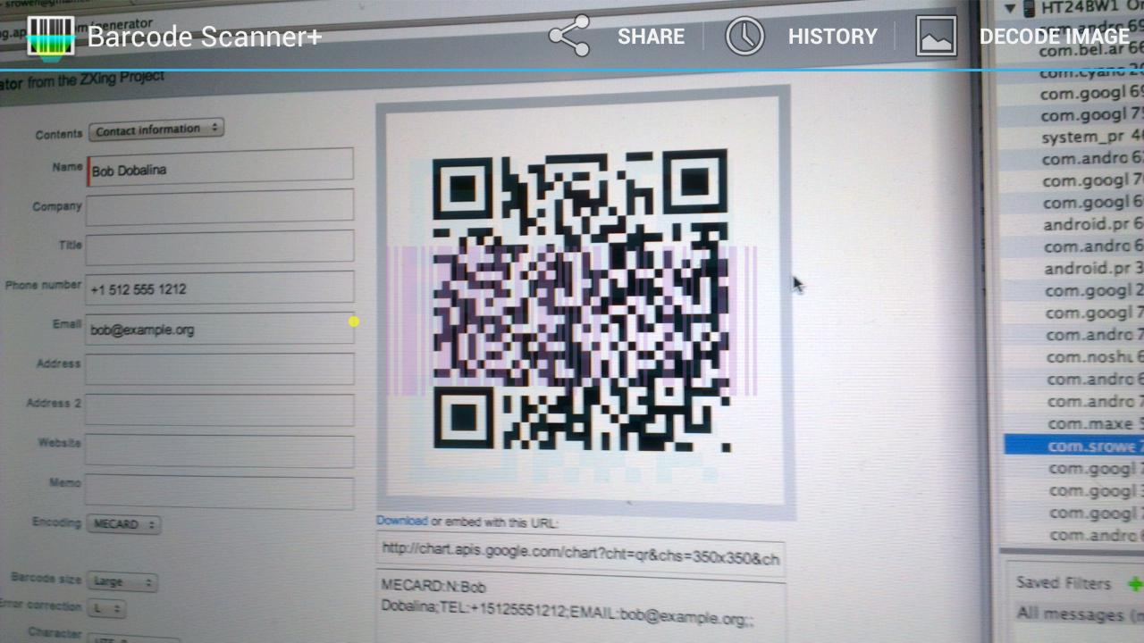 Barcode Scanner+ (Plus)- screenshot