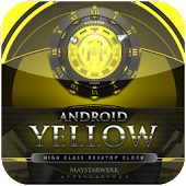yellow clock widget