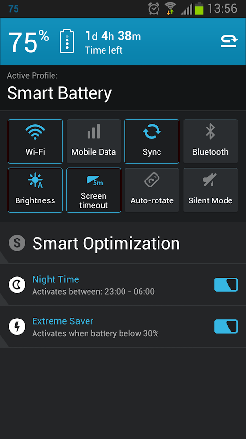 Smart Battery Saver - screenshot