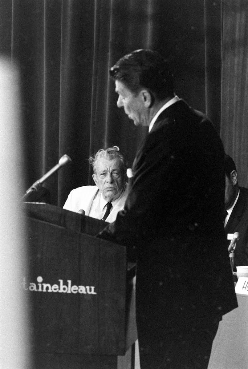 Gop Convention Lindsay & Reagan Before The Committee On Resolutions-Platform Writing