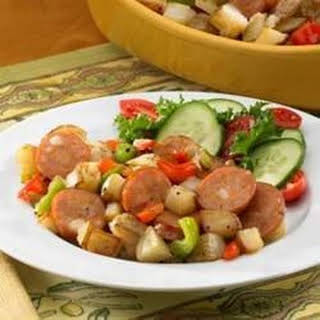 Johnsonville® Chipotle and Monterey Jack Cheese Chicken Sausage Potato Hash.