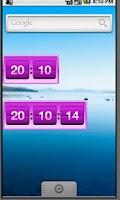 Screenshot of Retro Violet Clock