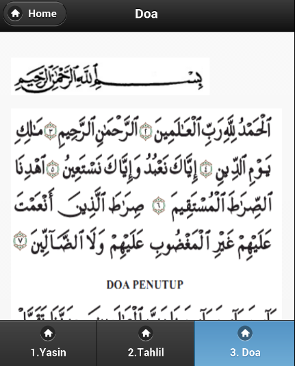 Kitab Tahlil Arwah Yasin - screenshot