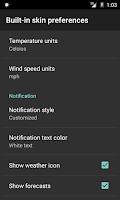 Screenshot of Weather notification