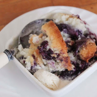 Gluten-Free Texas-Style Blueberry Cobbler.