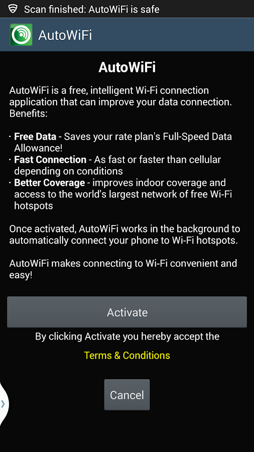 Cricket's AutoWiFi - screenshot