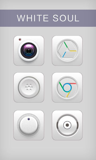 White Soul GO Launcher Theme v1.0 screenshots 1