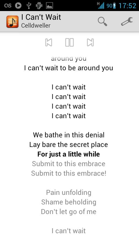 andLyrics- screenshot