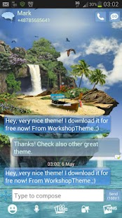 GO SMS Pro Theme tropical- screenshot thumbnail