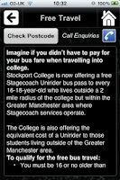 Screenshot of Stockport College
