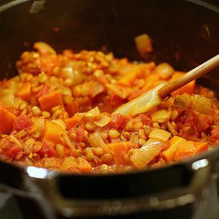 Stewed Lentils & Tomatoes