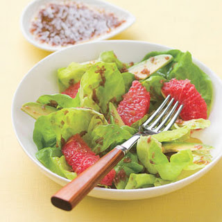Grapefruit and Avocado Salad with Ginger-Cassis Dressing