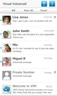 AT&T Visual Voicemail - screenshot thumbnail