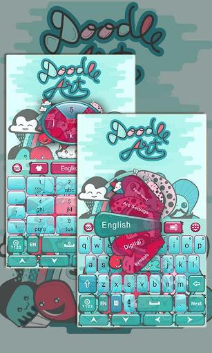 Doodle Art GO Keyboard Theme