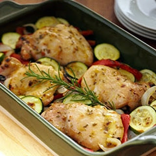 Roasted Garlic Chicken & Vegetables.