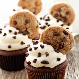 Chocolate Chip Cookie Dough Cupcakes.