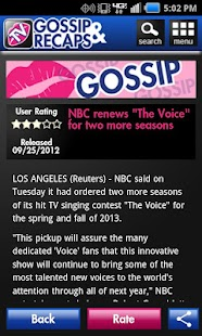TV Recaps and Gossip - screenshot thumbnail